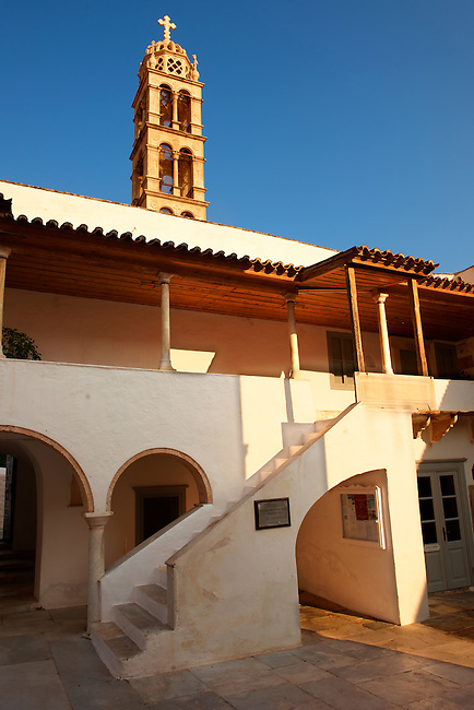The 17th century Metropolitan Cathedral of the Dormation of the Virgin, Hrdra, Greek Saronic Islands.