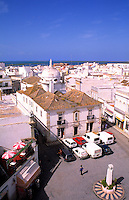 Old buildings of a Moorish type architecture, village of Olmao in the Algarve in Southern Portugal, Europe