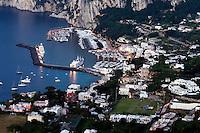 Italien, Capri, Blick auf Marina Grande