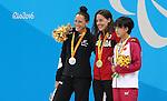 Aurelie Rivard, Rio 2016 - Para Swimming // Paranatation.<br /> Aurelie Rivard wins gold in the women's 50m freestyle // Aurélie Rivard remporte l'or au 50 m nage libre féminin. 09/09/2016.