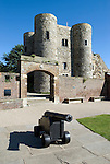 Grossbritannien, England, East Sussex, Rye: Ypres Tower, frueherer Wachturm, heute ein Museum | Great Britain, England, East Sussex, Rye: Ypres Tower, originally a watch tower, now houses a museum