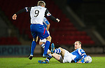 St Johnstone v Inverness Caley Thistle..29.12.12      SPL.Richie Foran is tackled by Dave Mackay.Picture by Graeme Hart..Copyright Perthshire Picture Agency.Tel: 01738 623350  Mobile: 07990 594431