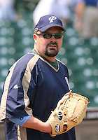 David Wells of the San Diego Padres vs. the Chicago Cubs: June 18th, 2007 at Wrigley Field in Chicago, IL.  Photo By Mike Janes/Four Seam Images