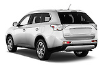 Car pictures of rear three quarter view of a 2015 Mitsubishi Outlander GT 4WD 5 Door SUV Angular Rear