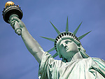 Statue of Liberty on Liberty Island in New York City.