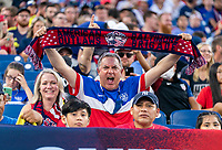 NASHVILLE, TN - SEPTEMBER 5: Fans cheer during a game between Canada and USMNT at Nissan Stadium on September 5, 2021 in Nashville, Tennessee.
