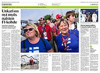 Helsingin Sanomat (leading Finnish daily) on Finnish Formula 1 fans at Hungaroring, August 2019<br /> Photos: Martin Fejer