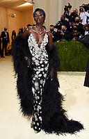 """Anok Yai attends The Metropolitan Museum of Art's Costume Institute benefit gala celebrating the opening of the """"In America: A Lexicon of Fashion"""" exhibition on Monday, Sept. 13, 2021, in New York. (Photo by Evan Agostini/Invision/AP)"""