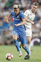 Real Madrid's Gareth Bale (r) and Getafe CF's Ivan Alejo during La Liga match. August 19,2018.  *** Local Caption *** © pixathlon<br /> Contact: +49-40-22 63 02 60 , info@pixathlon.de