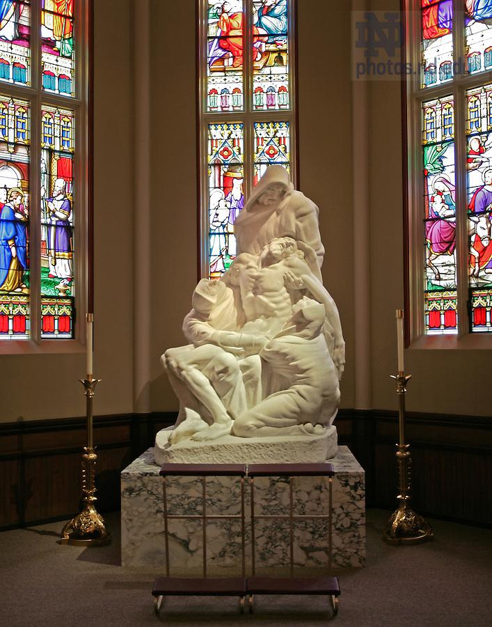 Pieta sculpture in the Basilica of the Sacred Heart..Photo by Matt Cashore