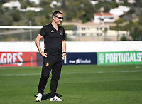 20200310  Lagos , Portugal : Belgian head coach Ives Serneels pictured during the female football game between the national teams of Belgium called the Red Flames and Denmarkl on the third and last matchday for the 5th or 6th place of the Algarve Cup 2020 , a prestigious friendly womensoccer tournament in Portugal , on tuesday 10 th March 2020 in Lagos , Portugal . PHOTO SPORTPIX.BE | DAVID CATRY
