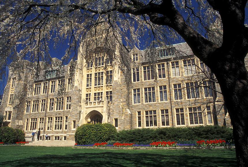 Georgetown, university, Washington, DC, District of Columbia, White-Gravenor Building on the campus of Georgetown University in the spring in Georgetown.