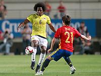 Spain's David Jimenez Silva (r) and Colombia's Carlos Sanchez during international friendly match. June 7,2017.(ALTERPHOTOS/Acero) (NortePhoto.com) (NortePhoto.com)
