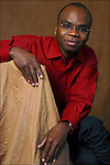 Edem Awumey, writer from Togo, Paris 2005.