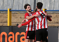 Alex Gilbert (No 8) celebrates scoring Brentford's second goal with Joe Adams during Watford Under-23 vs Brentford B, Friendly Match Football at Clarence Park on 24th November 2020