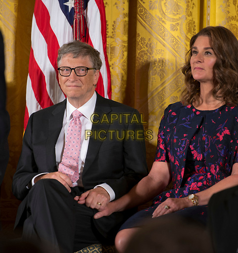 **FILE PHOTO** Bill And Melinda Gates Divorcing after 27 Years Of Marriage.<br /> <br /> Washington DC, November 22, 2016, USA: President Barack Obama awards the Medal of Freedom to Bill and Melinda Gates at the White House. <br /> CAP/MPI/PYL<br /> ©PYL/MPI/Capital Pictures