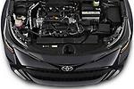 Car Stock 2021 Toyota Corolla-Hatchback SE 5 Door Hatchback Engine  high angle detail view