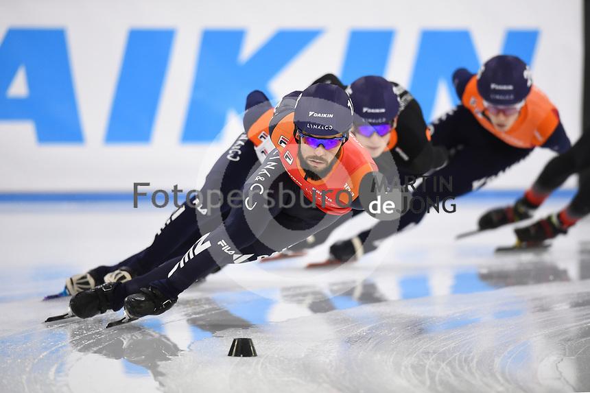 SCHAATSEN: HEERENVEEN: 12-12-2020, IJsstadion Thialf, Shorttrack, NK Shorttrack Afstanden, Sjinkie Knegt, ©foto Martin de Jong