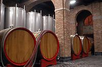 - the cellar of a winery in the Langhe, Barolo wine area....- la cantina di un'azienda vinicola nelle Langhe, zona del vino Barolo