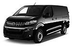 2020 Opel Vivaro Innovation 4 Door Cargo Van angular front stock photos of front three quarter view