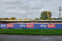 General view of the ground ahead of Crawley Town vs Morecambe, Sky Bet EFL League 2 Football at Broadfield Stadium on 17th October 2020