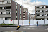 Empty Durham Court blocks awaiting demolition in Phase 2b of Brent Council's South Kilburn Estate regeneration scheme.