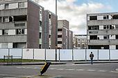 Empty Durham Court blocks awaiting demolition in Phase 2b of Brent Council's South Kilburn Estate regeneration scheme.
