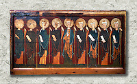 The 12th century Romanesque Altar front from the church of the monastery of St. Sernin Tavèrnoles (Les Valls de Valira Alt Urgell). Tempera on wood. National Art Museum of Catalonia, Barcelona. MNAC 15786