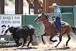 Isaiah Jones competes in the ranch horse class slack event at the Minden Ranch Rodeo on Saturday, July 23, 2011, in Gardnerville, Nev. .Photo by Cathleen Allison