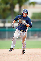 GCL Rays designated hitter Joey Roach (25) running the bases during the second game of a doubleheader against the GCL Red Sox on August 9, 2016 at JetBlue Park in Fort Myers, Florida.  GCL Rays defeated GCL Red Sox 9-1.  (Mike Janes/Four Seam Images)