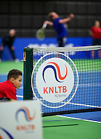 Rotterdam,Netherlands, December 15, 2015,  Topsport Centrum, Lotto NK Tennis, KNLTB logo<br /> Photo: Tennisimages/Henk Koster
