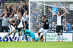 Dundee v St Johnstone...15.08.15  SPFL   Dens Park, Dundee<br /> James McPake celebrates his goal<br /> Picture by Graeme Hart.<br /> Copyright Perthshire Picture Agency<br /> Tel: 01738 623350  Mobile: 07990 594431