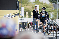 Team DSM pre stage team presentation<br /> <br /> Stage 2 from Perros-Guirec to Mûr-d-Bretagne, Guerlédan (184km)<br /> 108th Tour de France 2021 (2.UWT)