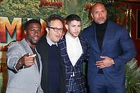 "KEVIN HART, JAKE KASDAN (REALISATEUR), NICK JONAS, DWAYNE JOHNSON - AVANT-PREMIERE DU FILM ""JUMANJI 2"" AU GRAND REX A PARIS, FRANCE, LE 05/12/2017."