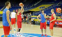 Milos Teodosic European championship group B trening Srbija Serbia's training session  07. September 2015 in Berlin, Germany  (credit image & photo: Pedja Milosavljevic / STARSPORT)