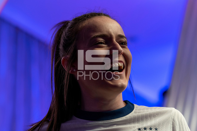 ORLANDO, FL - FEBRUARY 28: Rose Lavelle #16 poses at studio on February 28, 2020 in Orlando, Florida.