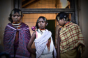 young girls from the Dongria Kondh tribe are seen at their annual festival in Lanjigarh, Orissa, India.