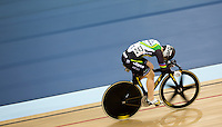 06 DEC 2014 - STRATFORD, LONDON, GBR - Anna Meares (JAY) racing for Jayco AIS makes her way to the finish line during the Women's Individual Sprint 1/16 finals at the 2014 UCI Track Cycling World Cup  in the Lee Valley Velo Park in Stratford, London, Great Britain (PHOTO COPYRIGHT © 2014 NIGEL FARROW, ALL RIGHTS RESERVED)