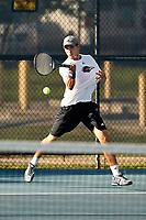 SAN ANTONIO, TX - OCTOBER 14, 2017: The University of Texas at San Antonio Roadrunners host the UTSA Cup Men's Tennis Matches at the UTSA Tennis Center. (Photo by Jeff Huehn)