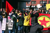 Manifestation kurde dans les rues de Montreal, mars 1999