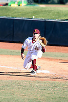 Joey DiMichele #18 of the Arizona State Sun Devils plays against  the University of New Mexico Lobos  on February 20, 2011 at Packard Stadium, Arizona State University, in Tempe, Arizona. .Photo by:  Bill Mitchell/Four Seam Images.