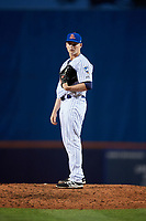 St. Lucie Mets relief pitcher Ryder Ryan (16) looks in for the sign during the first game of a doubleheader against the Charlotte Stone Crabs on April 24, 2018 at First Data Field in Port St. Lucie, Florida.  St. Lucie defeated Charlotte 5-3.  (Mike Janes/Four Seam Images)