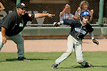 Aberdeen, MD: Tampa's Christian Whidden takes a lead off third base during Thursday afternoon's Tampa v Willamette Valley game at the 2009 Cal Ripken World Series