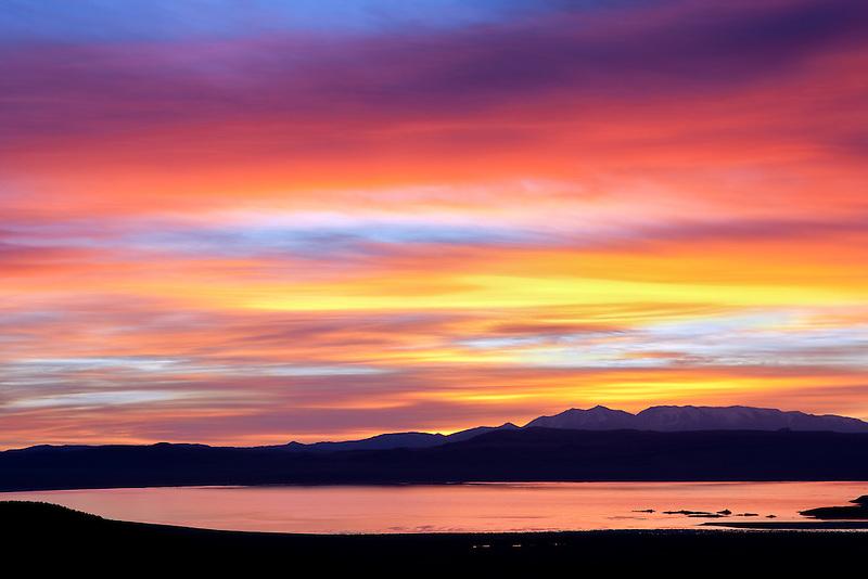 Sunset over Monoo Lake, California