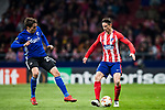 Fernando Torres (R) of Atletico de Madrid is tackled by Robert Skov of FC Copenhague during the UEFA Europa League 2017-18 Round of 32 (2nd leg) match between Atletico de Madrid and FC Copenhague at Wanda Metropolitano  on February 22 2018 in Madrid, Spain. Photo by Diego Souto / Power Sport Images