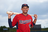 GCL Twins shortstop Royce Lewis (4) poses for a photo after the first game of a doubleheader against the GCL Rays on July 18, 2017 at Charlotte Sports Park in Port Charlotte, Florida.  GCL Twins defeated the GCL Rays 11-5 in a continuation of a game that was suspended on July 17th at CenturyLink Sports Complex in Fort Myers, Florida due to inclement weather.  (Mike Janes/Four Seam Images)