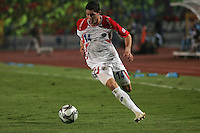 Costa Rica's Bryan Oviedo (14) drives toward Egypt's goal during the FIFA Under 20 World Cup Round of 16 match between Egypt and Costa Rica at the Cairo International Stadium on October 06, 2009 in Cairo, Egypt.