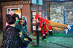 © Joel Goodman - 07973 332324 . 27/12/2017. Wigan, UK. Revellers in Wigan enjoy Boxing Day drinks and clubbing in Wigan Wallgate . In recent years a tradition has been established in which people go out wearing fancy-dress costumes on Boxing Day night . Photo credit : Joel Goodman
