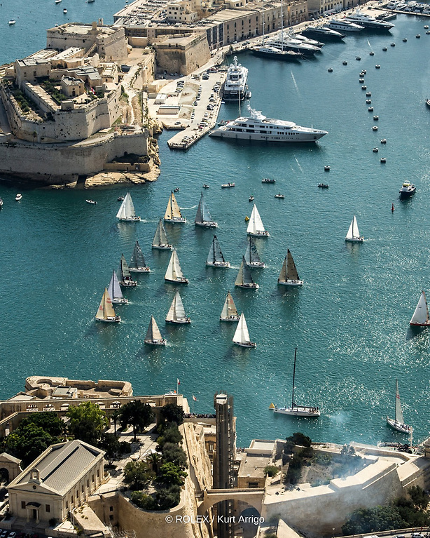 The Rolex Middle Sea Race fleet ranges in size from 140 feet (42.56 metres) down to some comparatively, ridiculously small 30-footers (nine plus metres).