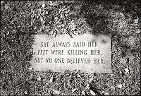 Humorous grave marker<br />